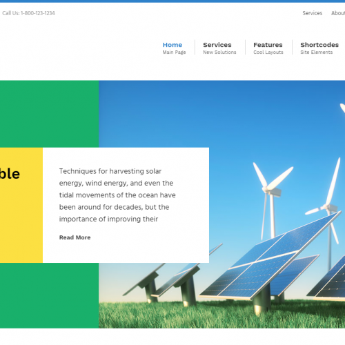 Green Industry (WordPress Theme)